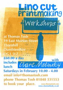 Make lino cut prints with me in February 2016